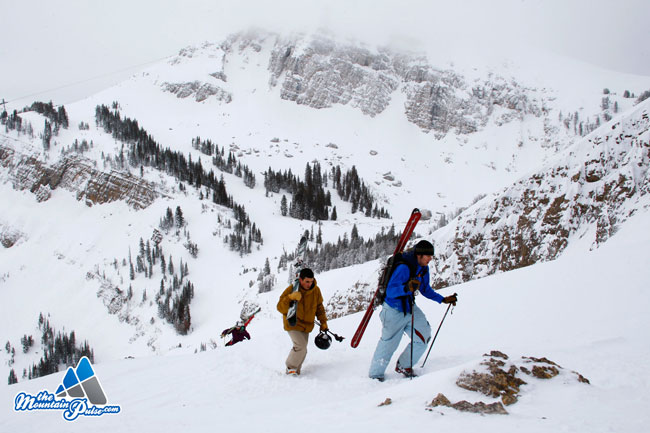 The Mountain Pulse Photo of the Day 01/12/11 - Hiking the Headwall