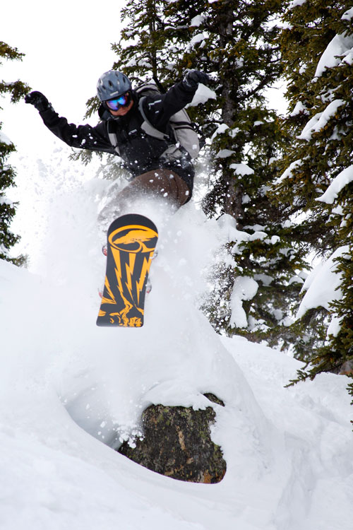 The Mountain Pulse Photo of the Day 01/23/11 - Snowboarding powder in Jackson Hole