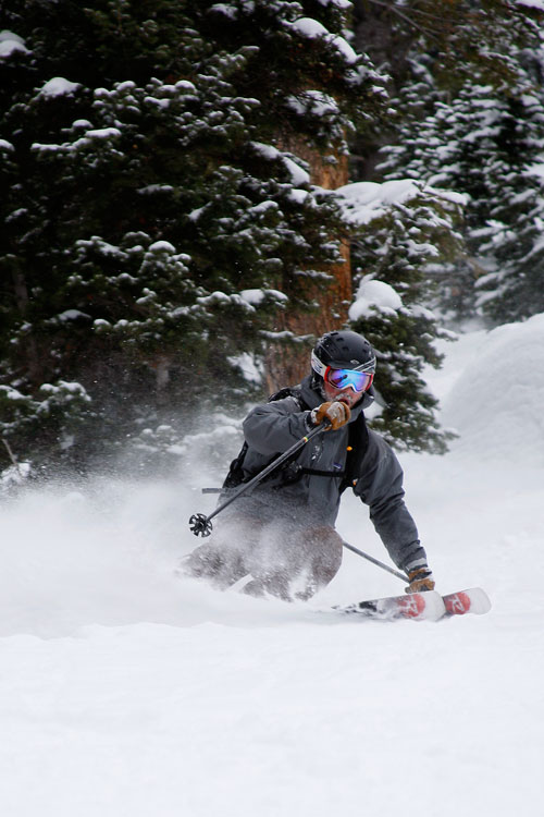 The Mountain Pulse Photo of the Day 01/27/11 - Skiing Powder in Grand Teton National Park