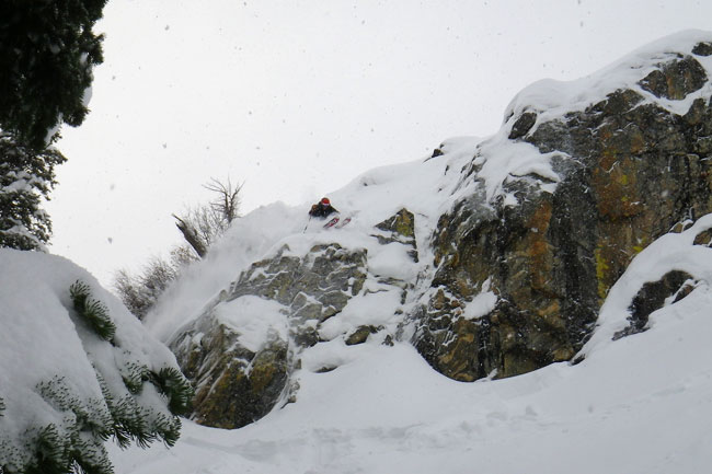 The Mountain Pulse Photo of the Day 01/31/11 - Sending it in Jackson Hole