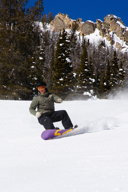 The Mountain Pulse Photo of the Day 02/02/11 - Riping Groomers in Jackson Hole