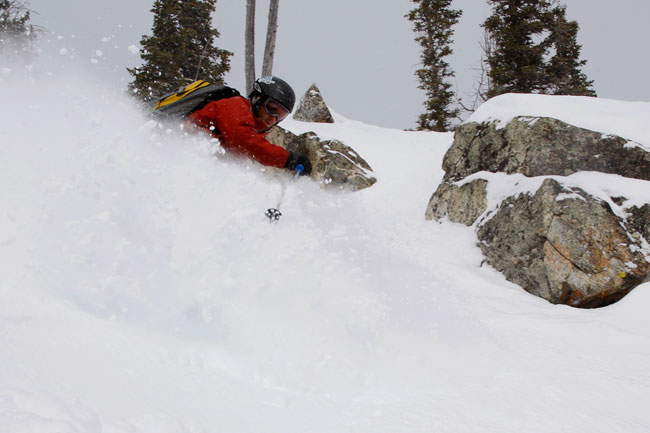 The Mountain Pulse Photo of the Day 02/10/11 - Skiing Powder in Jackson Hole