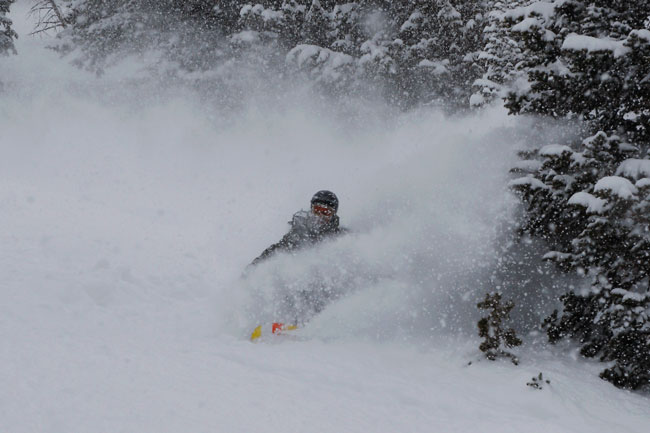 The Mountain Pulse Photo of the Day 02/24/11 - Snowboardin powder in Jackson Hole