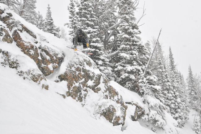The Mountain Pulse Jackson Hole Photo of the Day - 03/22/11 - powder snowboarding