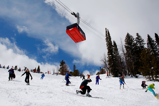 The Mountain Pulse Photo of the Day 04/01/11 - Gaper Fools Day at Jackson Hole