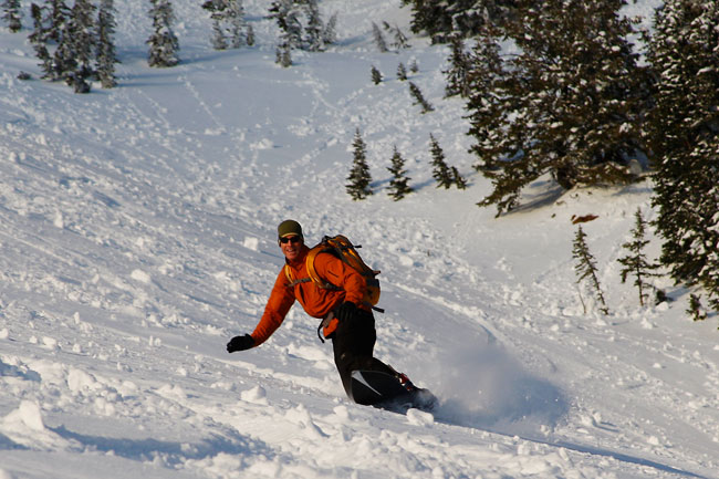 The Mountain Pulse Photo of the Day 04/13/11 - Snowboarding Teton Pass with Stephen Koch