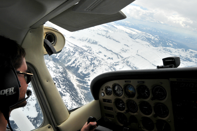 The Mountain Puise Jackson Hole Photo of the Day 05/12/11 - flying high above Jackson Hole