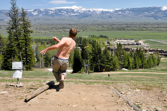 The Mountain Pulse Photo of the Day Disc Golf Jackson Hole 06/05/11