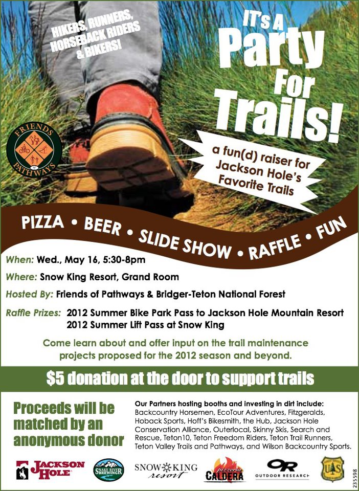 party for the trails friends of the pathways jackson hole