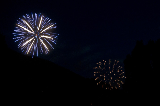 Photo of the Day Jackson Hole Snow King Fireworks Show 4th of July 07-04-11