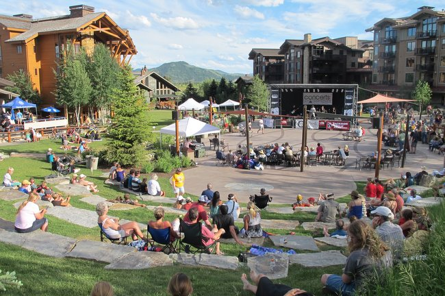 Jackson Hole Mountain Resort Teton Village The Mountain Pulse Concert in the Commons