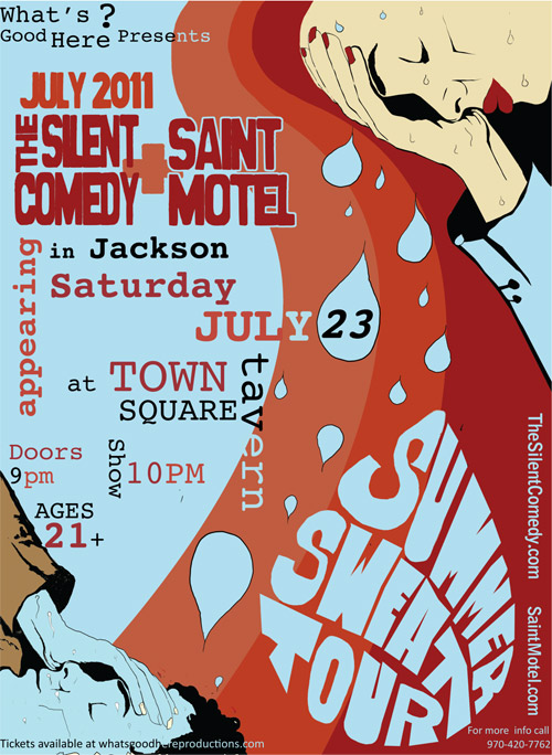 silent comedy live jackson hole wyoming, st motel, whats good here productions, live music grand teton national park