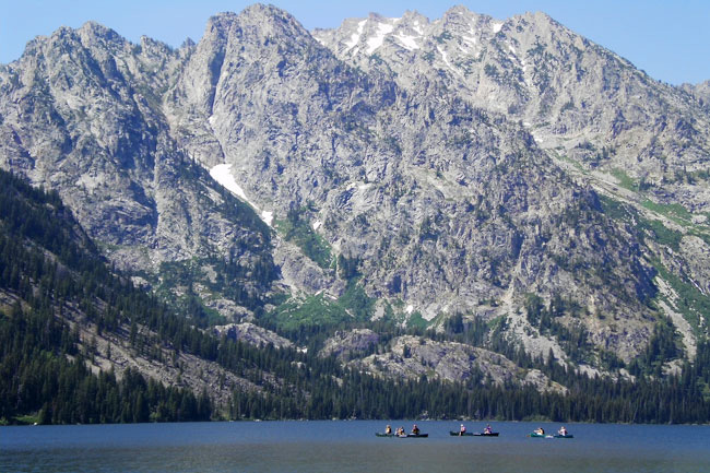 Grand Teton National Park The Mountain Pulse Jenny Lake Jackson Hole Canoe