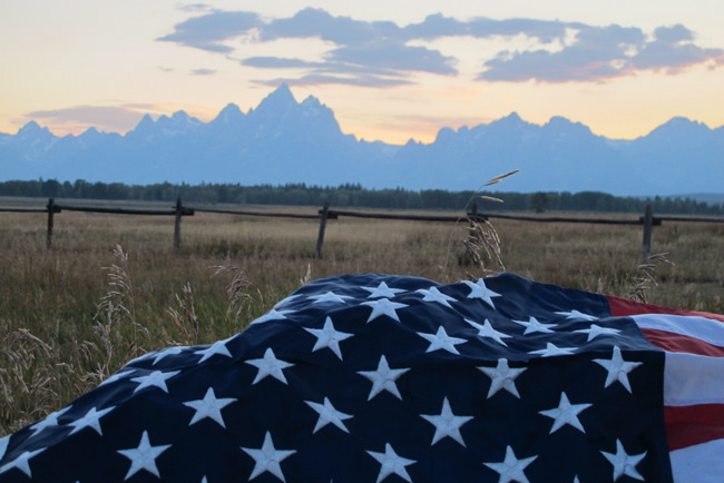 jackson hole the mountain pulse american flag grant tetons