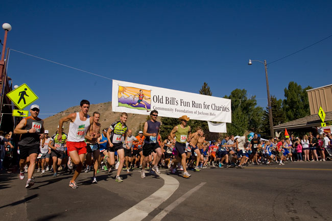 The Mountain Pulse photo of the day jackson hole old bill's fun run for charity