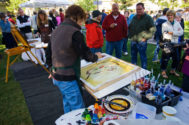 the mountain pulse photo of the day fall arts festival quick draw jackson hole