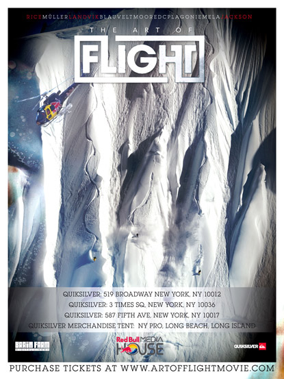 art_of_flight_poster, art of flight premiere, jackson hole wyoming, art of flight tickets, travis rice, red bull