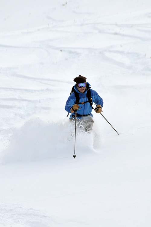 the mountain pulse, jackson hole, photo of the day, early season skiing,