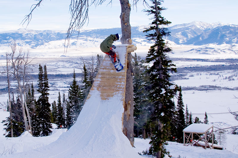 the mountain pulse photo of the day burton stash park jackson hole mountain resort snowboarding