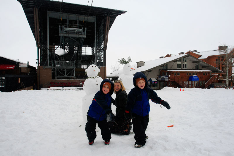 the mountain pulse photo of the day jackson hole snowman pre-season weather conditions snow total snowfall tram