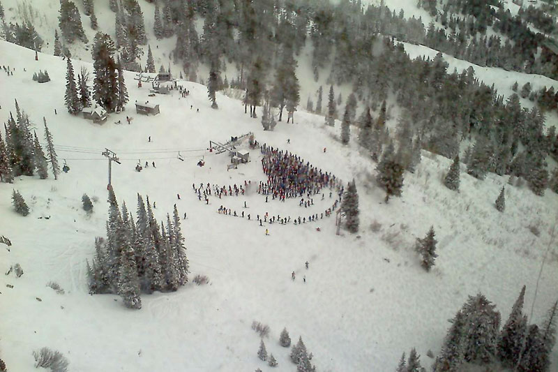 the mountain pulse, photo of the day, jackson hole, powder day, skiing, snowboarding, jackson hole tram