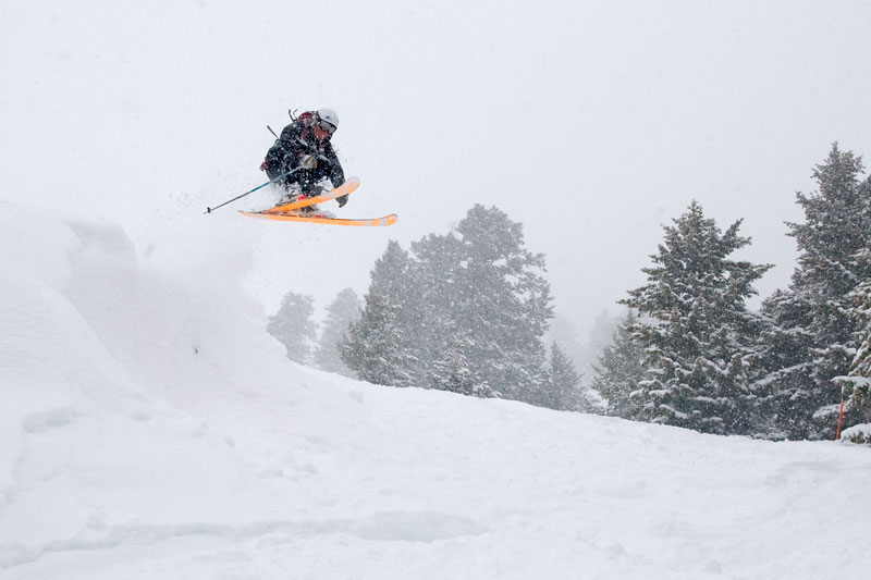 the mountain pulse, photo of the day, jackson hole, k2 skis, powder