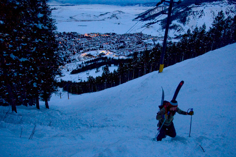 the mountain pulse, photo of the day, jackson hole, snow king, skiing, rob cocuzzo