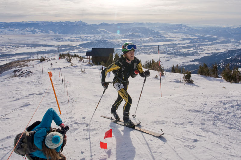 the mountain pulse, photo of the day, jackson hole, u.s. ski mountaineering championship, skiing
