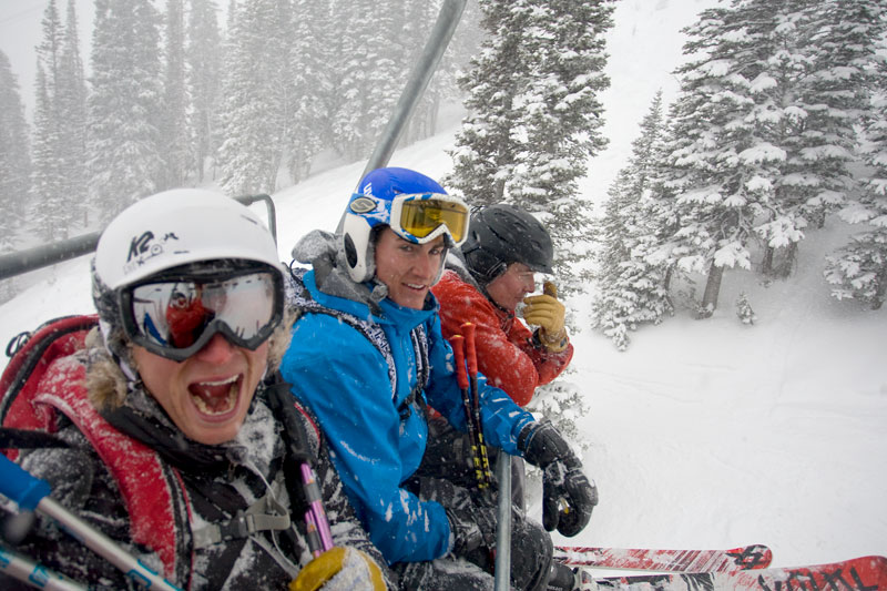 the mountian pulse, jackson hole, thunder chair lift, powder, skiing