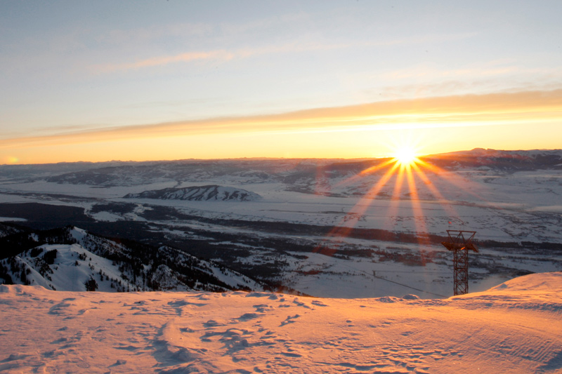 rendezvous_mtn_01, the mountain pulse, jackson hole wyoming, hundred days ski journal, sunrise
