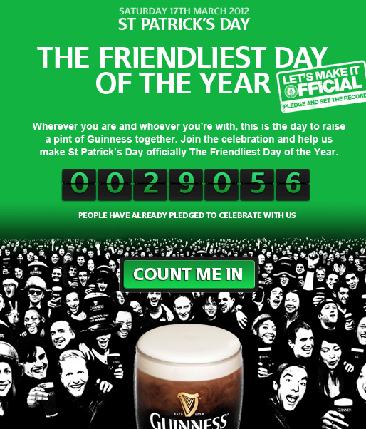 guinness st patricks day world record attempt