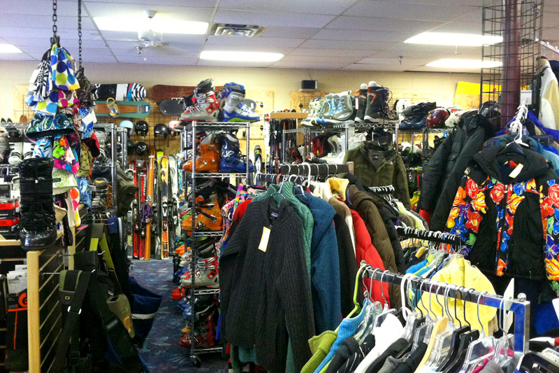 headwall_sports_02, headwall consignment shop jackson hole wyoming, recycled sports gear