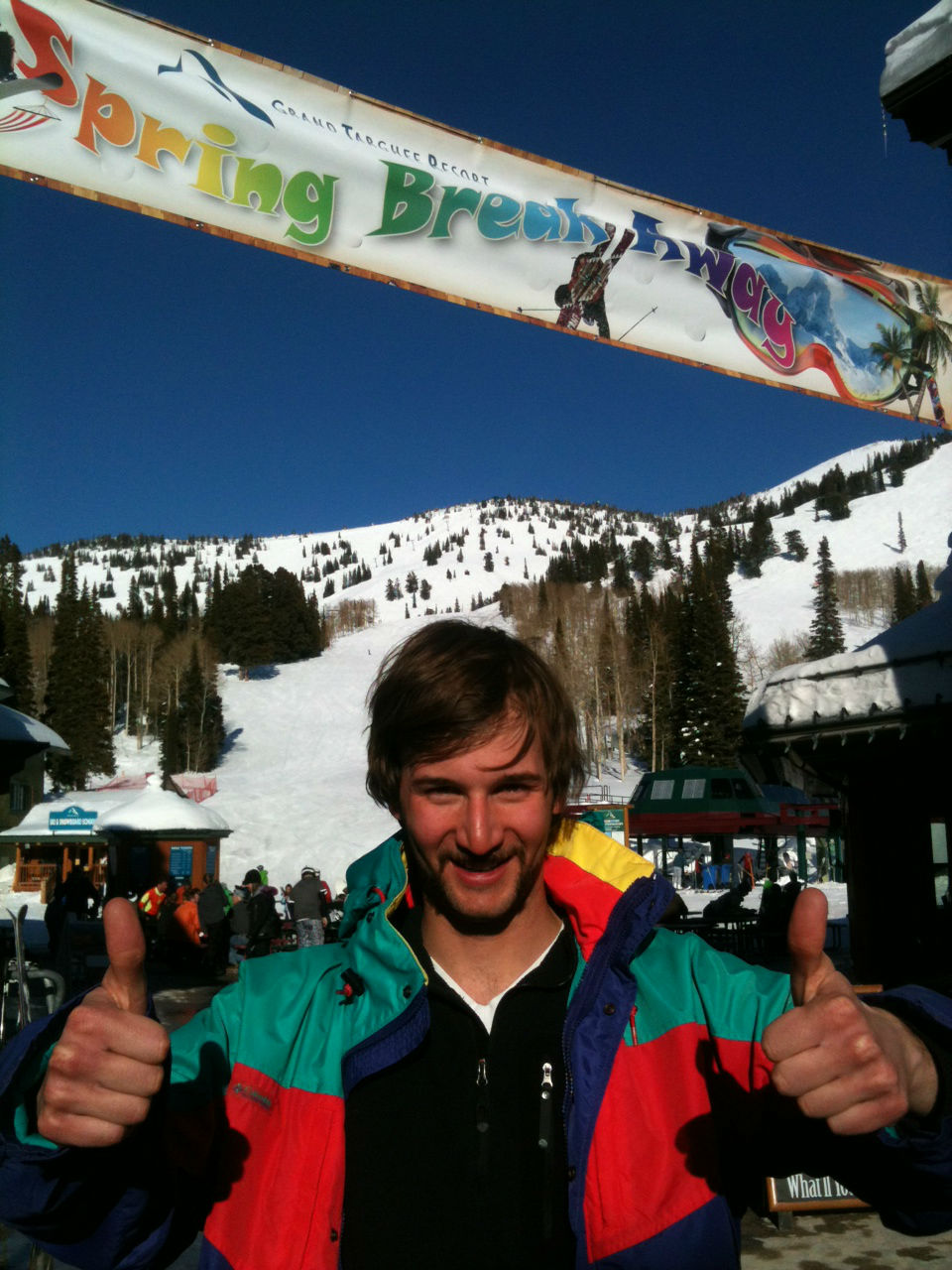 mustache celebration grand targhee spring break 80s weekend jackson hole driggs idaho spring skiing snowboarding late season