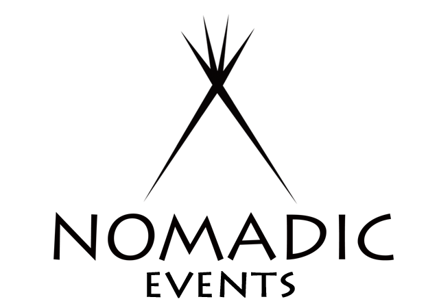 nomadic events jackson wyoming live music photography logo