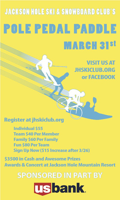 pole_pedal_paddle_01, jackson hole ski and snowboard club pole pedal paddle poster, jackson hole mountain festival 2012