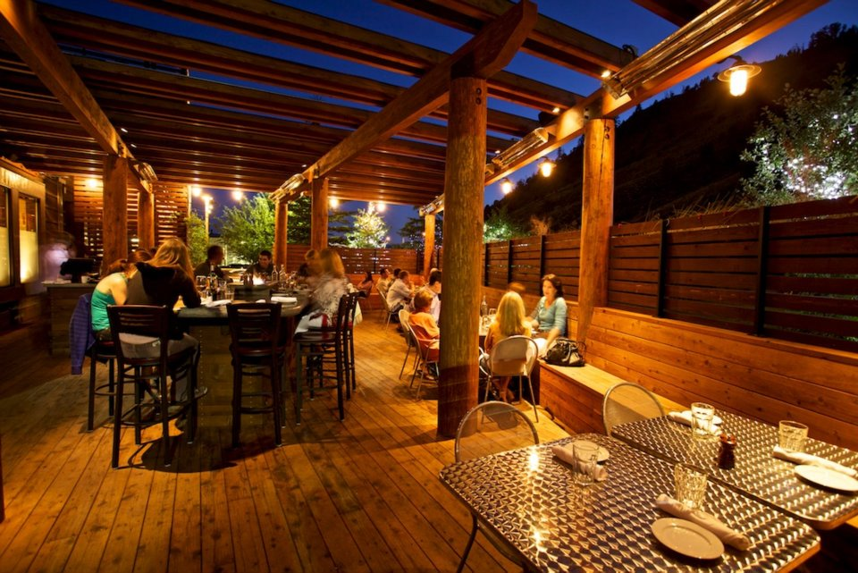 rendezvous bistro jackson hole outdoor deck