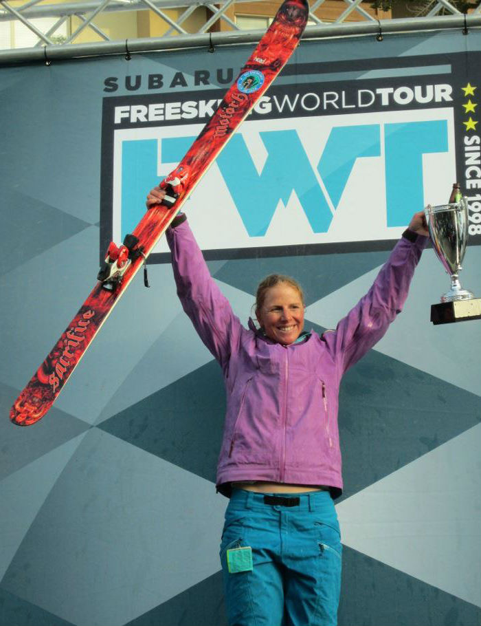crystal wright mcconkey cup freeski world tour champion podium kirkwood 2012 jackson hole