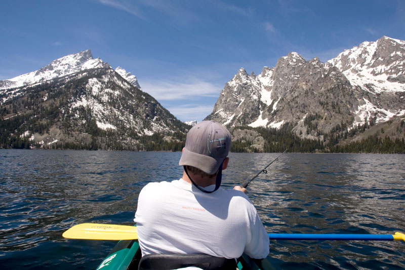 photo of the day fishing on jenny lake the mountain