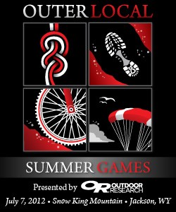 2012 Outerlocal Summer Games jackson wyoming jackson hole bouldering hiking mountain biking paragliding
