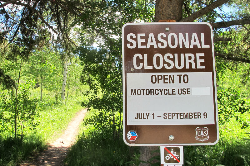 Munger Mountain Seasonal Closure