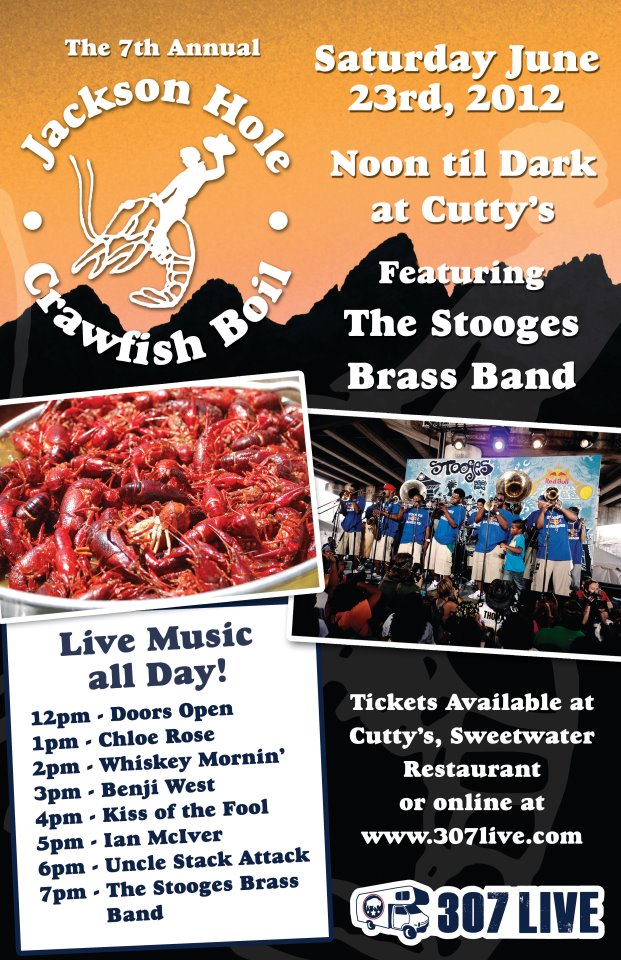 jackson hole crawfish boil the mountain pulse 307 live cutty's wyoming