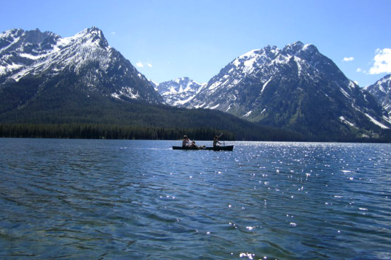 jackson lake grand teton national park jackson hole canoe kayak touring