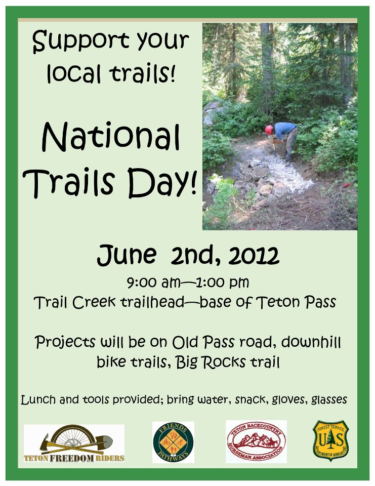 national trails day jackson hole friends of the pathways