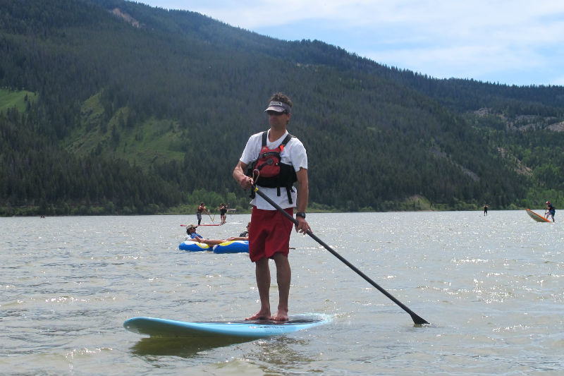 aaron pruzan of rendezvous river sports jackson wyoming water sports stand up paddle boards