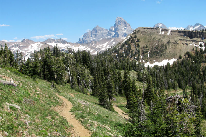 grand targhee mountain bike jackson hole grand teton views