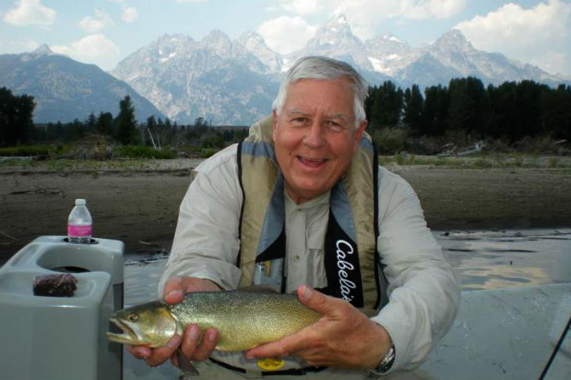 us senator mike enzi fly fishing jackson hole