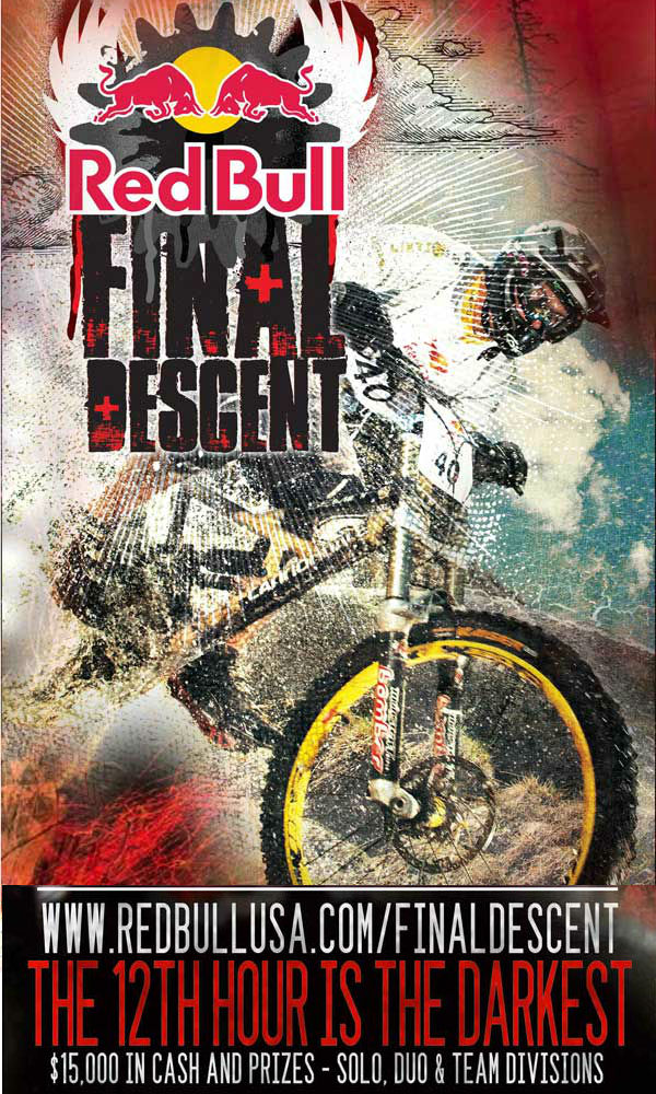 red bull final descent poster jackson hole mountain resort mountain biking