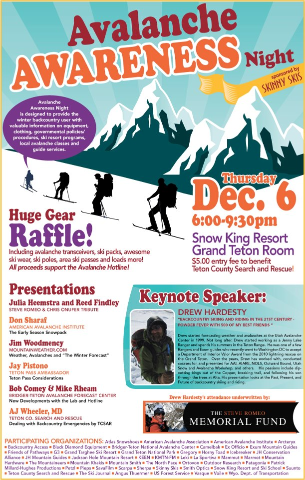 2012_avalanche_awareness_night skinny skis jackson hole snow king resort avalanche awareness
