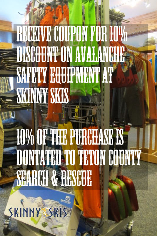 skinny skis avalanche gear sale