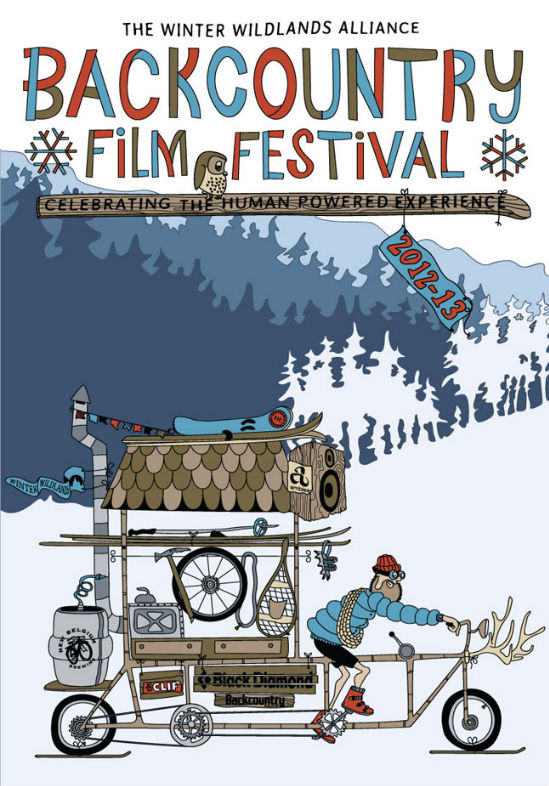 jackson hole backcountry film festival wyoming the mountain pulse pink garter theatre skiing snowboarding